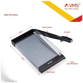 VMS Professional Paper Cutter Deluxe (Ideal for trimming paper(80 to 300 gsm), film, pouch and soft plastics)