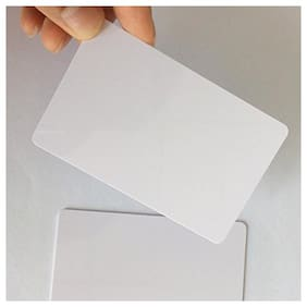 VMS Professional PVC Card without Chip for Inkjet Printers (Contact Smart Card, Aadhar Card, College ID, Gate Pass,Blank Card, Contact IC Card) White Printable Blank 50 PVC Card (50)