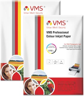 VMS Professional 220 GSM A4 Photo Paper Double Side Matte (2 x 20 Sheets)
