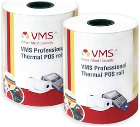 VMS Professional Thermal Paper Roll / POS Roll 55mm x 25m (Pack of 2)