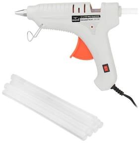 W WADRO - 100 W Fiber Hot Melt Glue Gun Electronic PTC Heating Technology for DIY & Craft Work (ASSORTED)(8 Glue Sticks FREE)