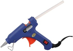 W WADRO (SUPER/4K) 40W 40WATT Mini HOT MELT GLUE GUN (ON OFFSwitch & LED Indicator) With 5 Long Glue Sticks(7mm) (Blue)