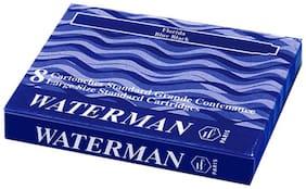 Waterman Ink Cartridge Blue Black (Pack Of 2)