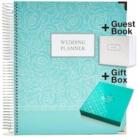 Wedding Planner Gift Set (White Cover & Gold Binding)