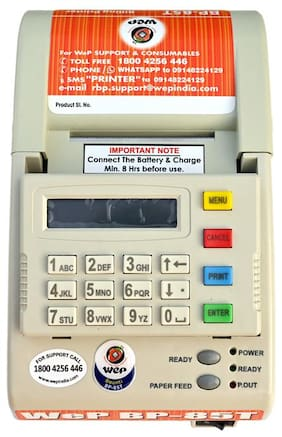 WeP BP 85T with Battery Small;All in One Billing Printer