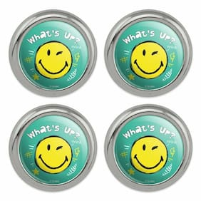 What's Up Winky Smiley Face Metal Craft Sewing Buttons - Set of 4