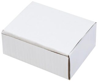 White 3 Ply Small Cube/Packaging Box 20.32 cm (8 Inch) x 15.24 cm (6 Inch) x 10.16 cm (4 Inch) Pack of 50