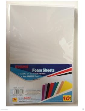 White Color 10 Pcs Craft Foam Sheets For Craft ART 8 x 12  inch