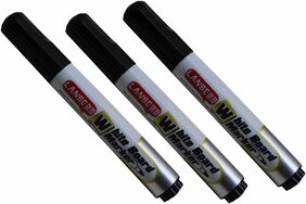 Whiteboard Marker Pen Black (Set of 3pcs)