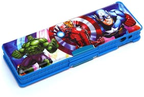 Wimbley Big Pencil Box With two compartment with sharpener - hulk and avengers characters
