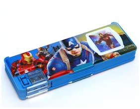 Wimbley Multipurpose Pencil Box with calculator & dual sharpner - Marvel Cartoon