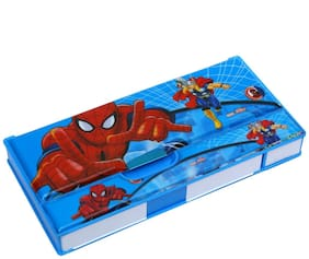 Wimbley Spider-Man Multi-Purpose Pencil Box For Kids with In built Sharpener