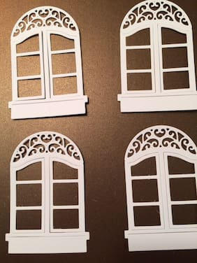 Window frame die cut for scrapbook or card making 4 pieces