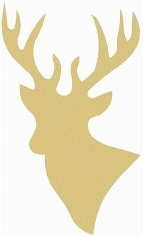 Wood Deer Shape, Unfinished Shape, MDF Wood Cutout, Wooden Paintable Craft
