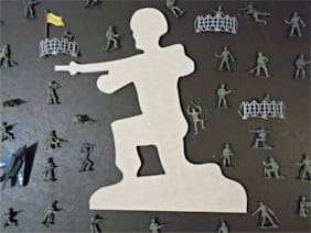 Wood Soldier Shape, Unfinished Soldier Shape, Wooden Soldier Cutout, Paintable