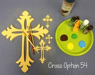 Wooden Cross Shape, Wood Wall Hanging Cross (54), Paintable Wood Cross, Craft