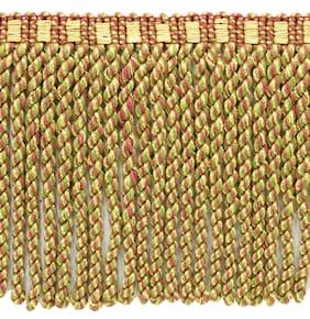 "Yellow Gold, Brick Red, Green 3"" Bullion Fringe [18 Yards]"