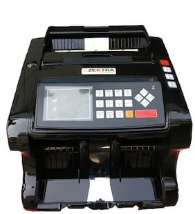 Zektra Black ZK1122 Mix Note/Value Counting Machine for 10, 20, 50, 100, 200, 500 and 2000 with Note Detector