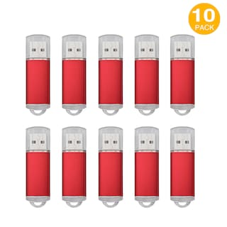 10 Lots 1GB USB 2.0 Flash Drive Thumb Drive Flash Memory Stick Thumb Storage Red