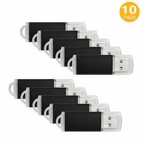 10 Pack 16GB USB Flash Drive Flash Memory Stick Rectangle Model Thumb Pen Drive