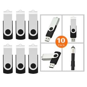 10 Pack 8GB Swivel Flash Pen Drive Folding USB 2.0  Memory Stick U Disk Thumb