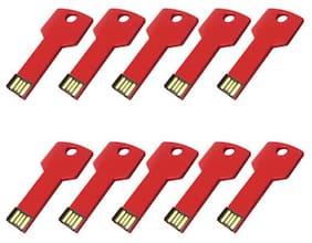 10PCS 2GB Metal Key USB2.0 Pen Drive Memory Stick Thumb USB Flash Drive Reader