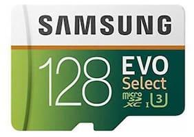 128GB 100MB/s (U3) MicroSD EVO Select Memory Card Adapter (MB-ME128GA/AM) &amp