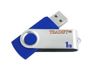 1TB USB 2.0/1.1 Flash Drive Disk Memory Pen Stick Thumb Storage Swivel Blue
