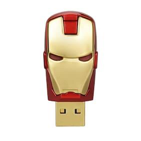 2x 32GB Gold For Avengers Iron Man USB Flash Drives Memory Stick Pen Drives Gift