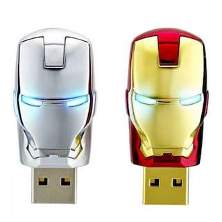 2X PCS Iron Man Mark Model Metal 8GB USB2.0  Flash Memory Stick Pen Drive Disk