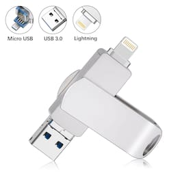 32G 64G 128G USB 3.0 Flash Drive Lightning Storage Memory Stick Dual For iPhone