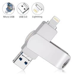 32G 64G 128G USB 3.0 Flash Drive Lightning Storage Memory Stick Dual For iPhone