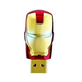 32GB Flash Drive USB 2.0 Memory Stick Metal Thumb Storage for Iron Man Avengers