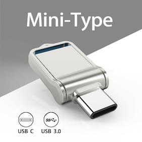 32G Type C Ultra Dual USB3.0 Flash Drive Mini Memory Stick Thumbdrive Waterproof