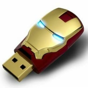 8GB 16GB 32GB USB2.0 Flash Drive Flash Memory Stick Pen Drive for Iron Man Mark