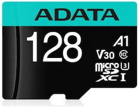ADATA 128 GB V30 MicroSDXC Memory Card ( Pack of 1 )