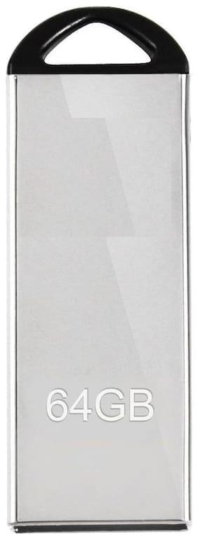 Capnicks 64 GB USB 2.0 Pendrive ( Silver )