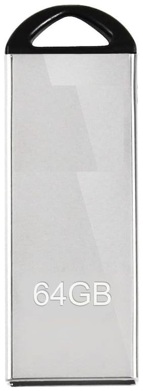 Capnicks 64 GB USB 2.0 Pendrive ( Silver )