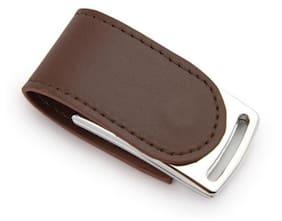 nexShop Genuiue Leather Magnetic Flap 8 GB USB 2.0 Pendrive ( Brown )