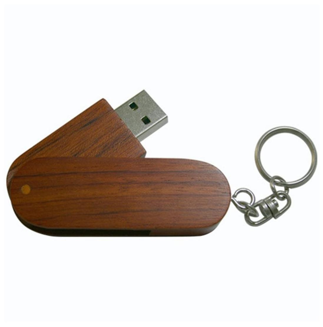 nexShop Swivel Wooden Thumb Pendrive 8  GB USB 2.0 Pendrive   Brown