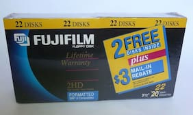 Fuji Film Floppy Disk MF2HD Formatted IBM & compatibles  3.1/2 Pack of 22