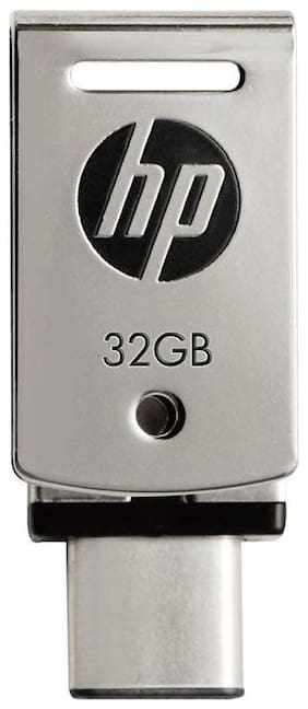 HP FD5000M-32 USB 3.1 32 GB Type C  OTG Pen Drive (Silver)