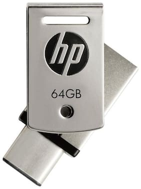 HP FDx5000M-64 USB 3.1 64 GB Type C OTG Pen Drive (Silver)