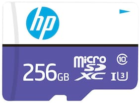 HP Micro SD Card 256 GB with Adapter U3 (Purple;White)