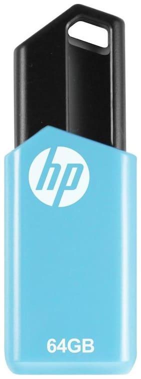 HP V150W USB 2.0 64 GB Utility Utility Pen Drive (Blue)