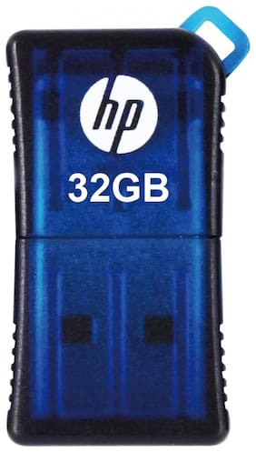 HP v165w 32 GB USB 2.0 Pendrive ( Blue )