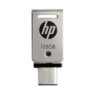 HP X5000m 128 GB USB 3.1 Type A & Type C Pendrive ( Silver )