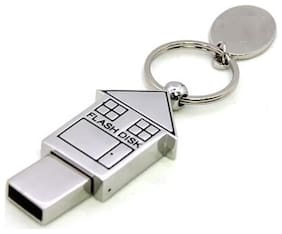 KBR Product Metal Home Shape USB 2.0 16 GB Removable Device