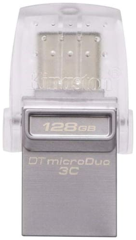 Kingston 128GB DataTraveler MicroDuo 3C Type C USB 3.1 OTG Pen Drive (DTDUO3C/128GBIN)