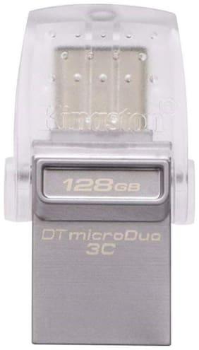 Kingston 128GB DataTraveler MicroDuo 3C Type C USB 3.1 OTG Pen Drive (DTDUO3C/128GBIN)